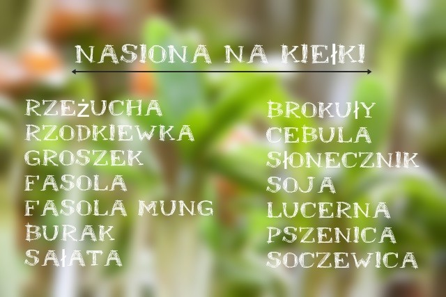 nasiona na kiełki