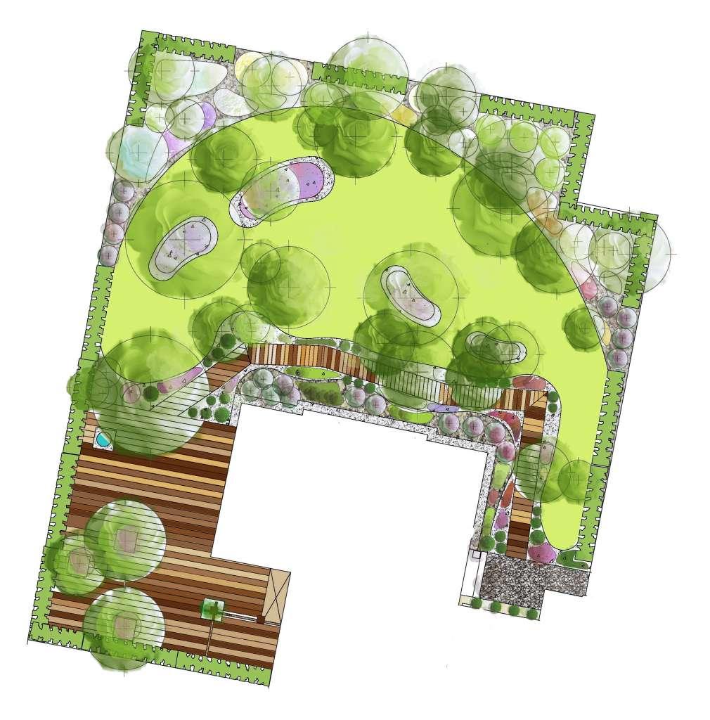 plan leśny ogród